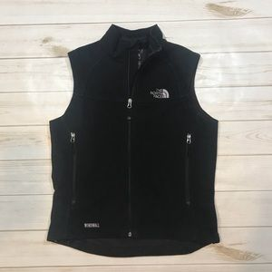 The North Face Windwall Fleece Black vest jacket M